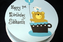 207, first birthday, 1st birthday, blue, bear, balloon, bird, cup, teacup, mug