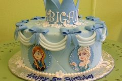 329, 5th birthday, fifth birthday, blue, frozen, anna, elsa, bow, bows, crown, tiara, flower, flowers,
