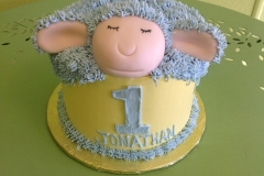 274, birthday, 1st birthday, first birthday, sheep, lamb, yellow, blue
