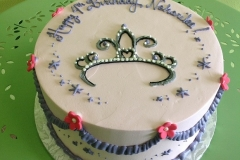 346, 4th birthday, fourth birthday, birthday, princess, crown, tiara, purple, pink, flower, flowers