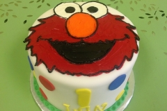 284, first birthday, 1st birthday, elmo, red, blue, yellow, dots, green,