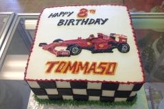 514, 8th birthday, eighth birthday, race car, race, car, F1 racing, F1, track, red, white