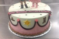 539, birthday, cowgirl, cowboy, boots, pink, black, white, sheriff, badge, fringe, star, stars