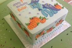 563, 7th birthday, seventh birthday, my little pony, pony, horse, wizard, pumpkin, white, blue, purple, star, stars