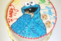1748, 3rd birthday, third birthday, cookie monster, sesame street, blue, red, yellow, green