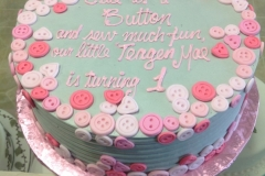 1773, first birthday, 1st birthday, button, buttons, hear, hearts, pink, blue