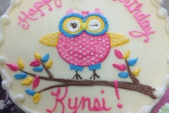 1804, 2nd birthday, second birthday, owl, branch, tree, pink, blue, yellow, white
