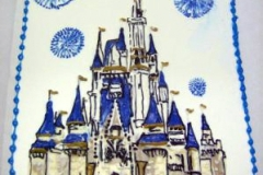 1821, birthday, disney, princess, castle, prince, cinderella, blue, white, disneyland, fireworks