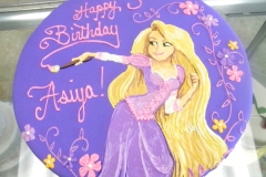 1834, third birthday, 3rd birthday, tangled, rapunzel, flower, flowers, purple, pink