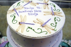 1847, 95th birthday, ninety fifth birthday, latvian, dragonfly, white, green, purple