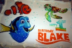 1911, first birthday, 1st birthday, dory, nemo, marlin, crush, squirt, finding nemo, white, bubbles, water