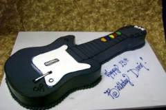1945, 13th birthday, 13th birthday, guitar, black, white, carved
