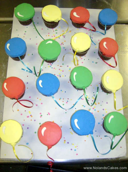 501, balloons, red, blue, yellow, green, ribbon, simple, balloon