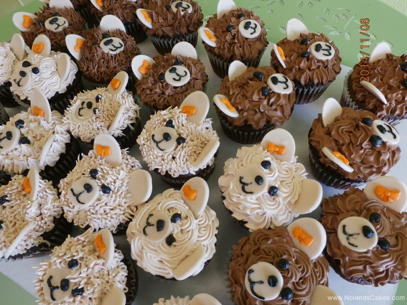 533, bears, sheep, cute, animals, brown, forest, white, orange, bow, kids, children