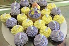 677, purple, yellow, baby, bottles, baby shower, flowers, white, pastel