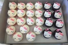 709, hello kitty, pink, white, black, bow