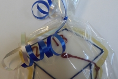 3288, cookie, graduation, hat, blue, red, white