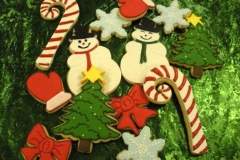 2688 holiday, december, christmas, candy cane, candy canes, stars, snowman, snowmen, hats, scarves, red, green, festive, trees, christmas trees, yule, mittens, bows, snow flakes, snow