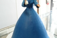 2845, barbie, doll, carved, graduation, cap, gown, cap and gown, blue, diploma,