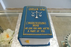 2879, law, book, scales, law school, blue, book, carved, blue, yellow, white