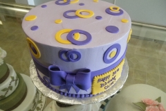 2885, yellow, purple, white, bow, circles, grey