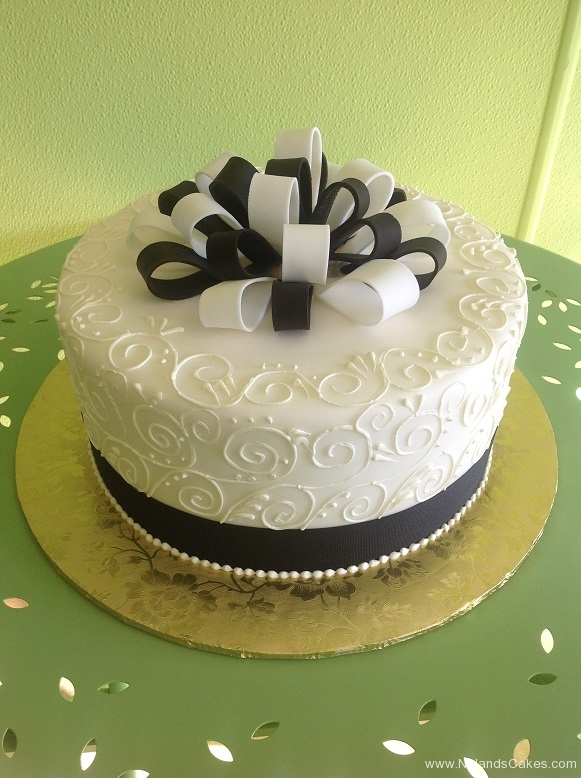 941, black, white, bow, ribbon, swirls, piping