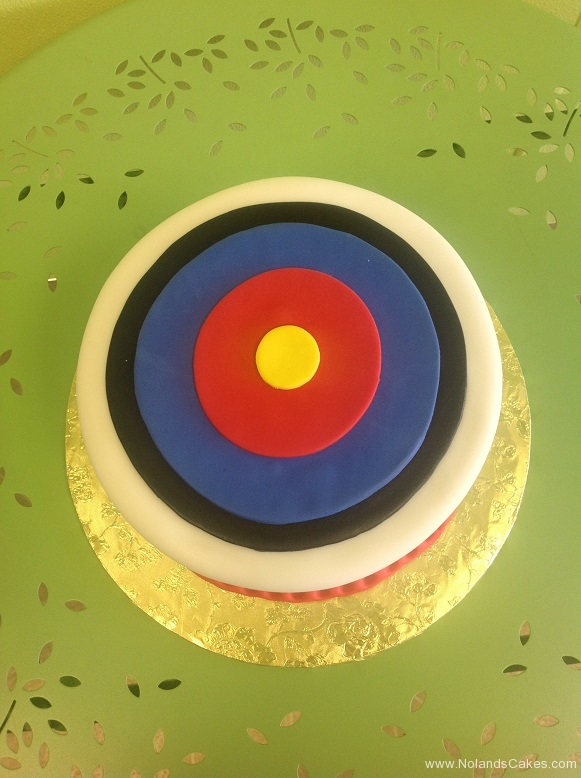 948, bullseye, target, circles, archery, yellow, red, blue, black, white
