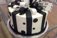 932, black, white, polka dots, dots, ribbon, bow