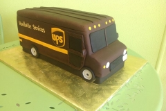 873, ups, fed ex, truck, carved, mail, post office, brown, yellow