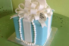 877, blue, present, ribbon, bow, pearls, necklace, gift, box
