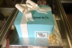 903, blue, square, gift, present, box, tiffany, tiffany and co, ribbon, white, bow, gold, rose