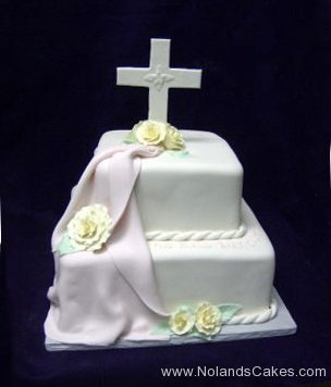 678, white, tiered, draped, drapes, two tiered, cross, topper, roses, white, flowers