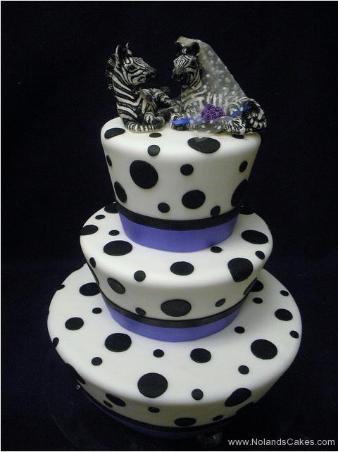 9, black, white, tiered, three tier, polka dots, zebras, topper, animal, blue, cute